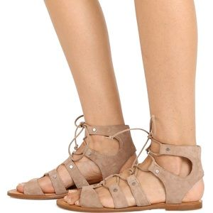 DOLCE VITA Gladiator Jasmyn Suede Lace-up sandals